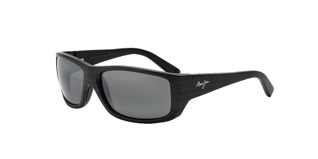 7382f9e6fe Maui Jim 123 WASSUP 61 Grey-Black   Black Polarized Sunglasses ...