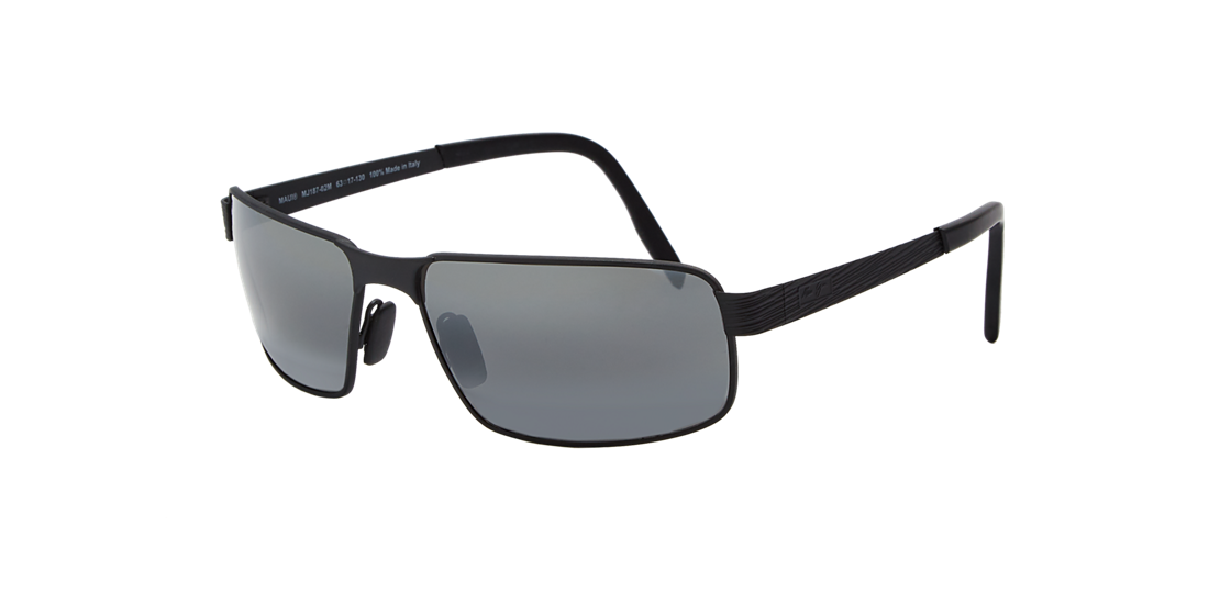 f64f59492d1 Maui Jim 187 CASTAWAY 63 Grey-Black   Polarized Sunglasses ...