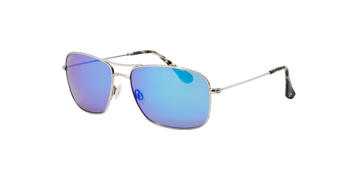 dcdf2322736 Maui Jim 246 WIKI WIKI 59 Blue   Silver Polarized Sunglasses ...
