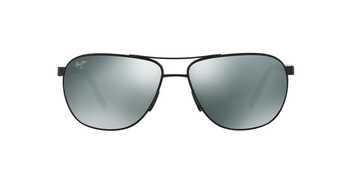 816620e4751e Maui Jim 728 CASTLES 61 Grey-Black & Black Matte Polarized ...