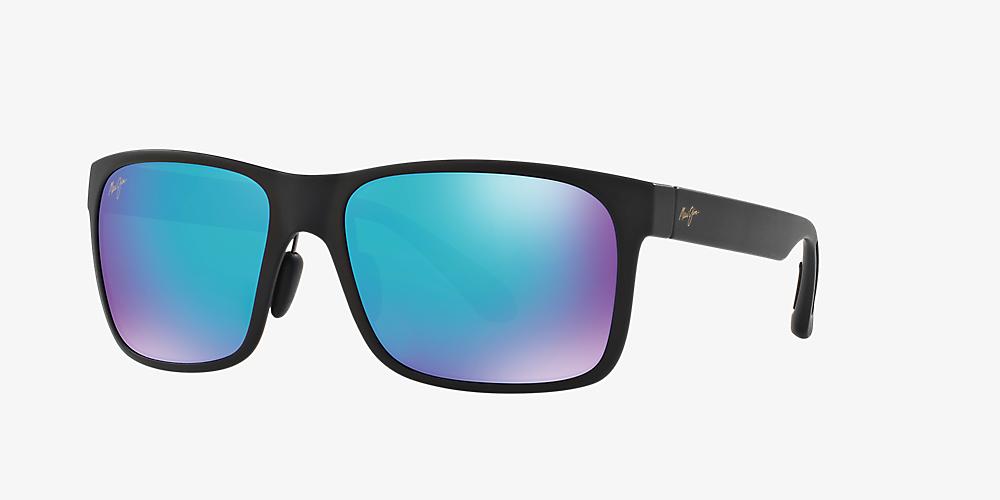 042e8bdf1f76 Maui Jim 432 RED SANDS 59 Blue & Black Matte Polarized Sunglasses ...