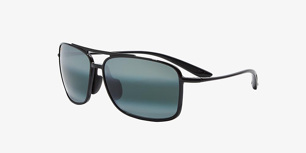 52ac22e083b9 Maui Jim 437 KAUPO GAP 61 Grey-Black & Black Polarized Sunglasses ...