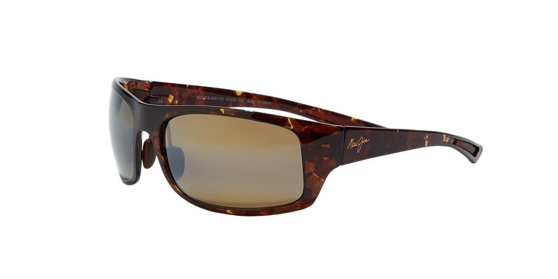 Maui Jim Unisex  440 BIG WAVE -  Frame color: Green, Lens color: Copper, Size 67-20/134
