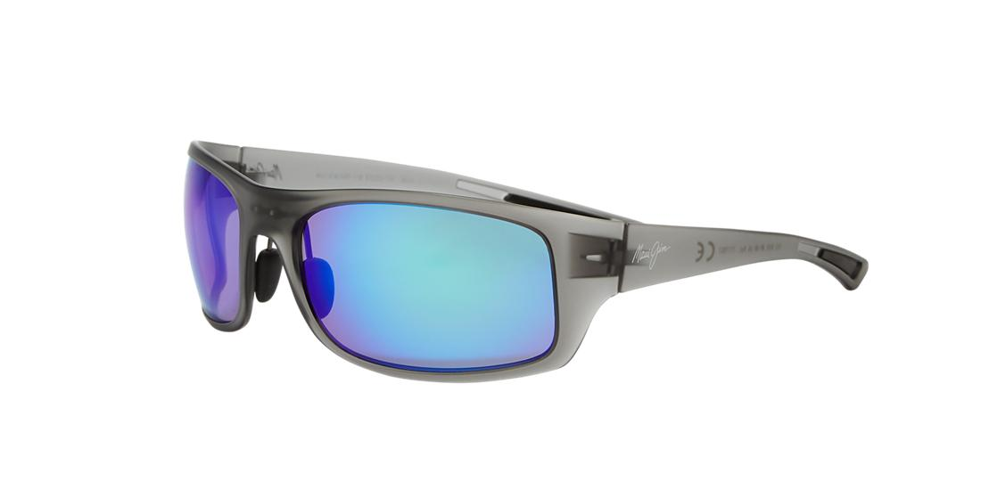 Maui Jim Unisex  440 BIG WAVE -  Frame color: Grey, Lens color: Blue, Size 67-20/134