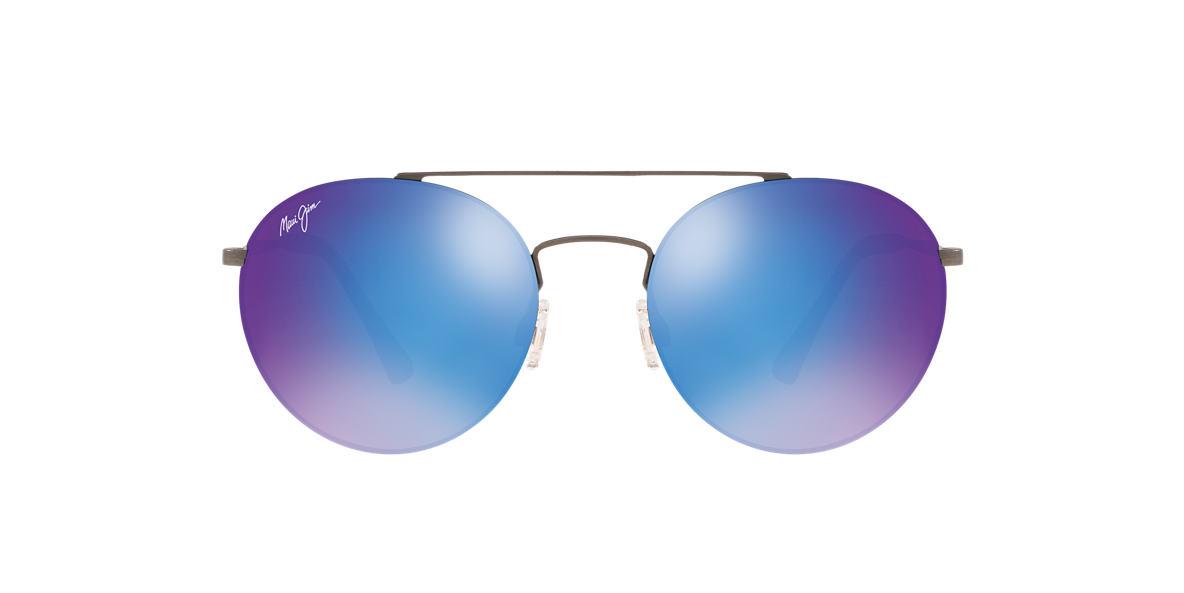 Gunmetal Peles Hair Blue Mirror