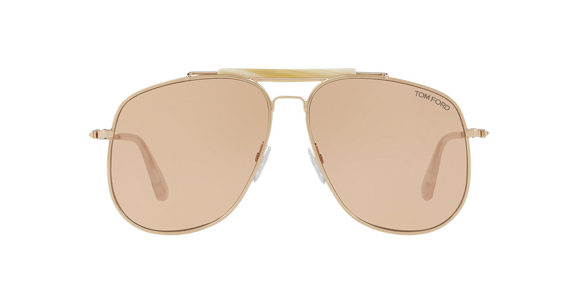 7844bb62c4 Tom Ford TR000916 58 Brown   Gold Sunglasses