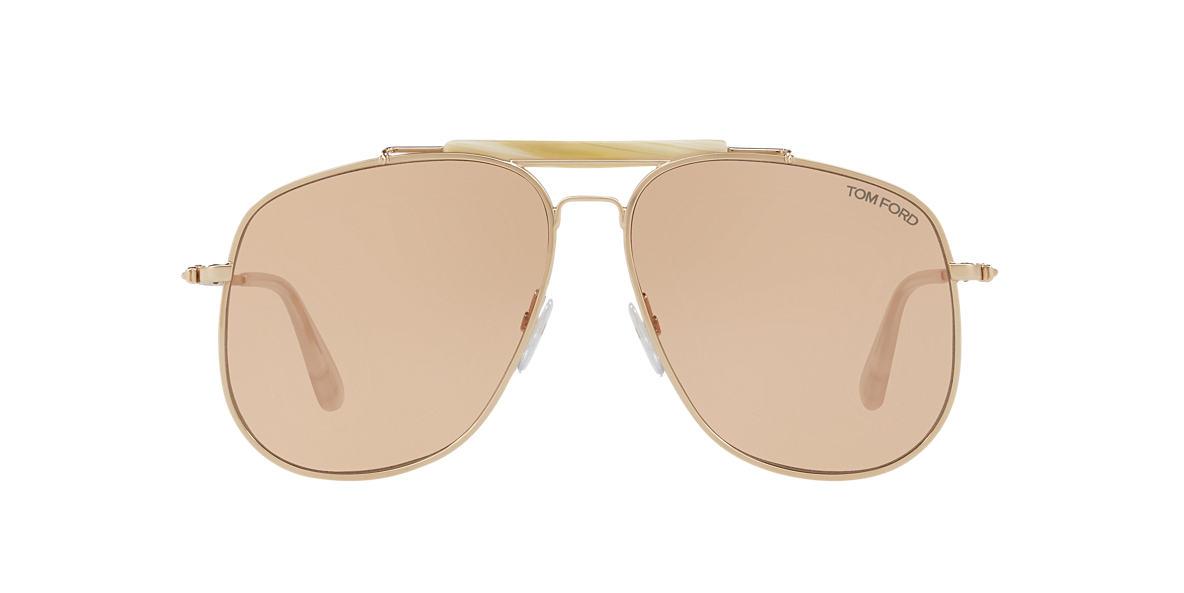 577ff34b46d Tom Ford TR000916 58 Brown   Gold Sunglasses