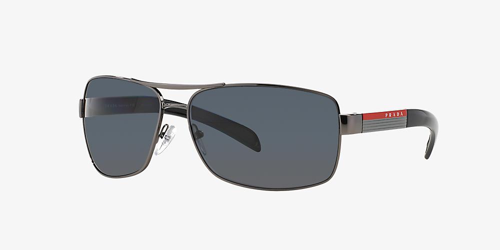 e3da8bf95398 Prada Linea Rossa PS 54IS 65 Grey-Black & Gunmetal Polarised ...