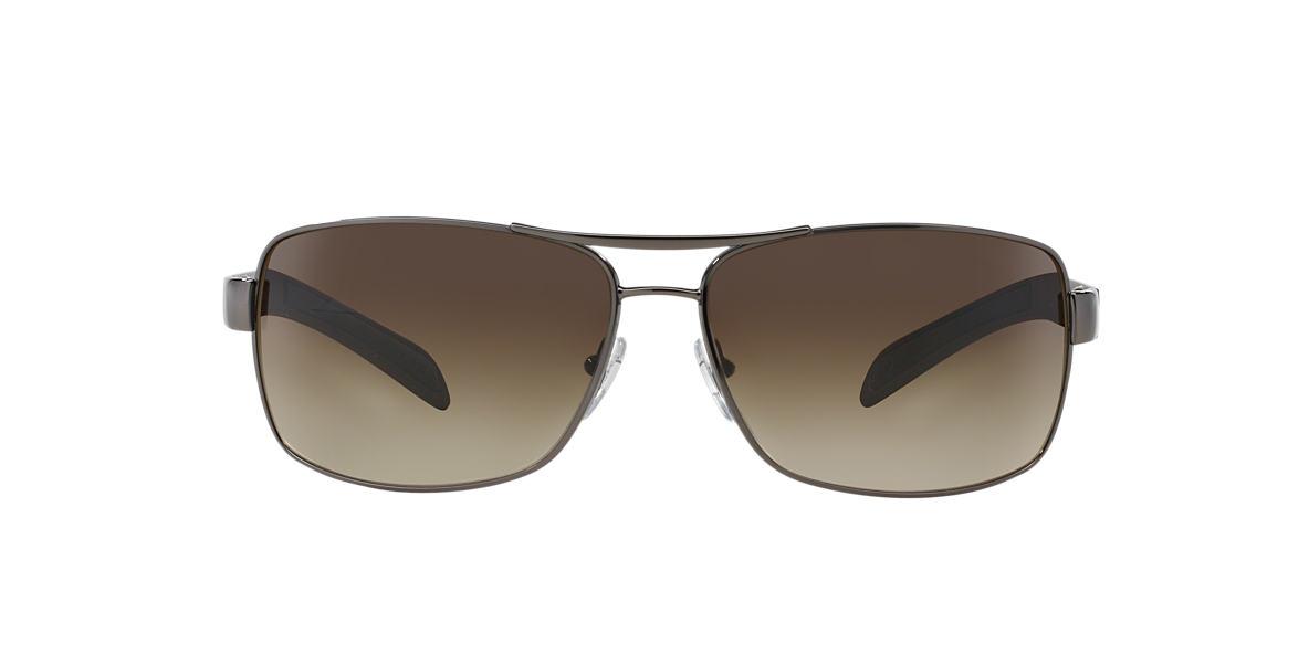 9fec8beec4 Prada Linea Rossa PS54IS 65 Brown   Gunmetal Sunglasses