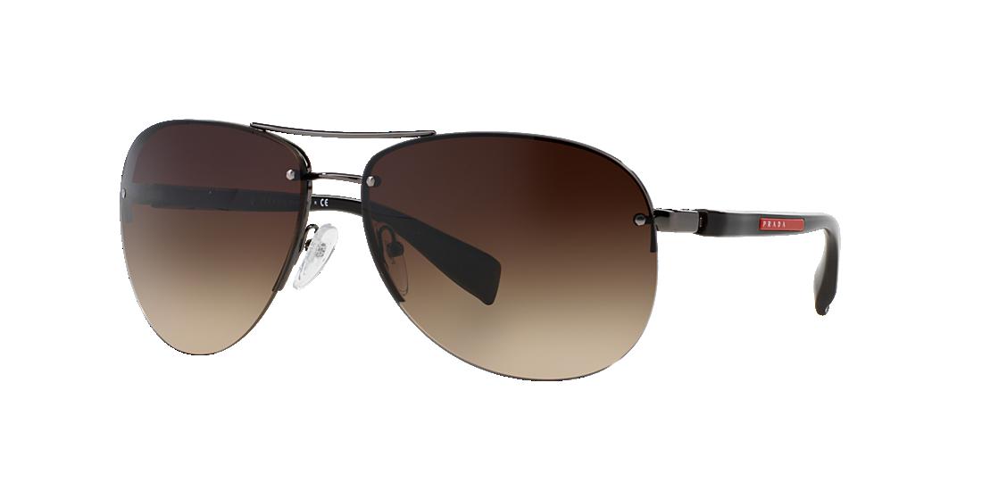 25b13a395c7 Prada Linea Rossa PS 56MS 62 Brown   Gunmetal Sunglasses