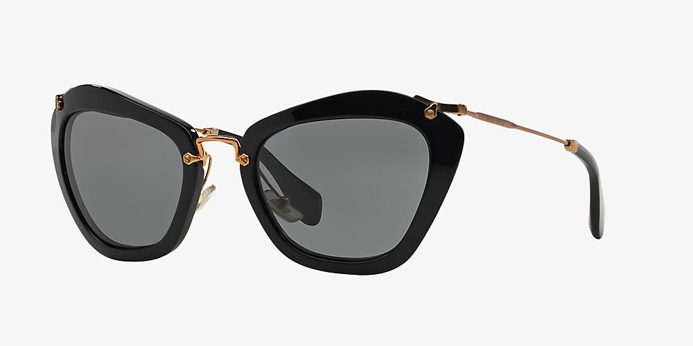 316bd3077 Miu Miu MU 10NS 55 Grey-Black & Black Sunglasses   Sunglass Hut USA