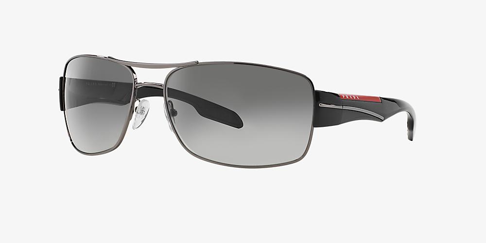 05f12dcac603 Prada Linea Rossa PS 53NS 65 Grey-Black & Gunmetal Sunglasses ...