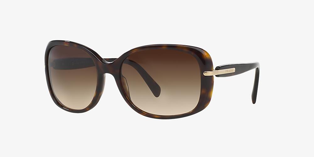 d20edee0c4a2 Prada PR 08OS 57 Brown & Tortoise Sunglasses | Sunglass Hut Australia