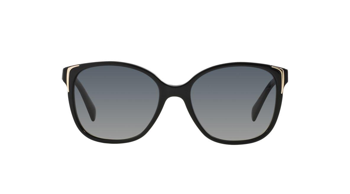 0a5d3ffa593 Prada PR01OS 55 Grey-Black   Black Polarized Sunglasses