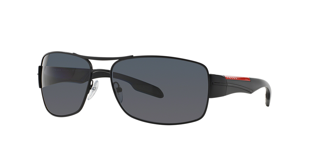 bc5f2084ac141 Prada Linea Rossa PS 53NS 65 Grey-Black   Black Polarized Sunglasses ...