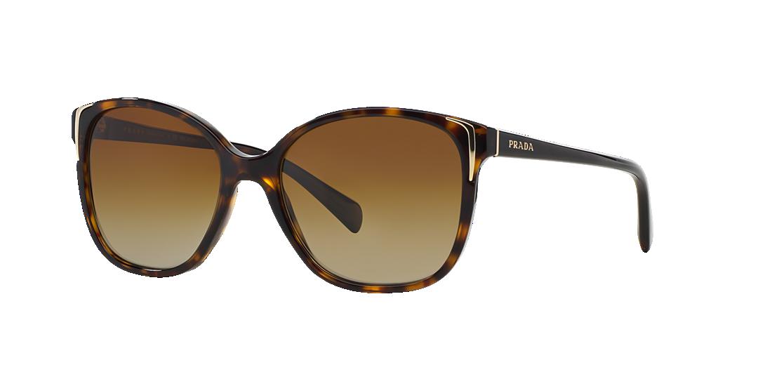 6b1f4b1a76 Prada PR 01OS 55 Brown   Tortoise Polarized Sunglasses