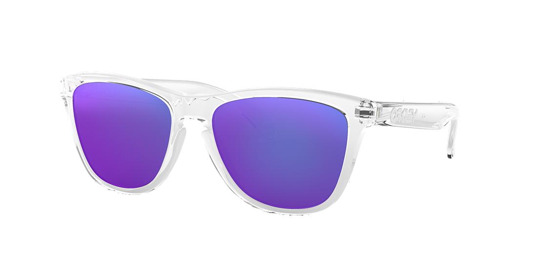 6f98efadc22 Oakley OO9013 FROGSKINS 55 Violet   Transparent Sunglasses ...