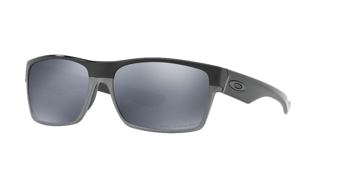 c7e9ae7a65 Oakley OO9189 60 Grey-Black   Black Polarised Sunglasses