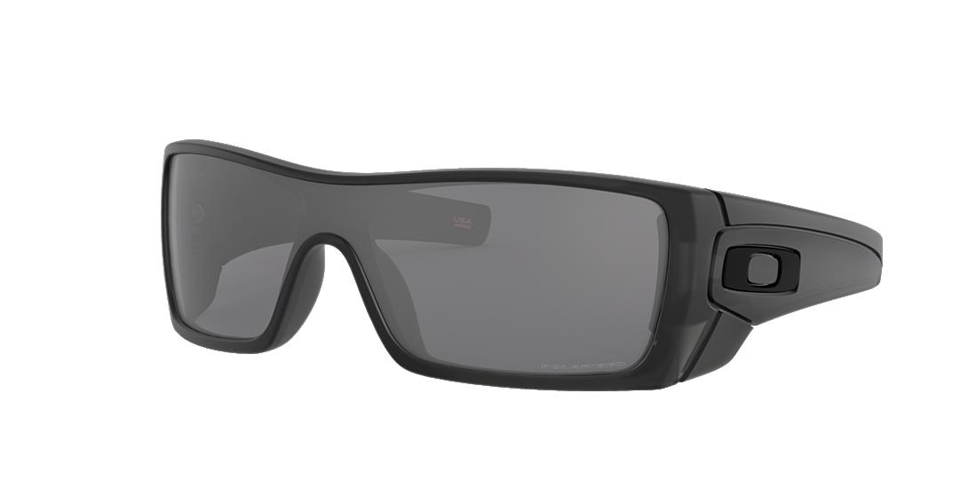 eb2c8138ad Oakley OO9101 01 Grey-Black   Matte Black Polarised Sunglasses ...