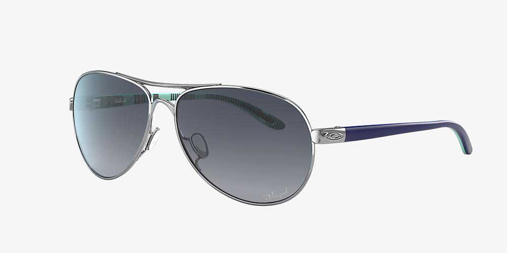 b184ef12a Oakley OO4079 Feedback™ 59 Grey-Black & Silver Polarized Sunglasses ...
