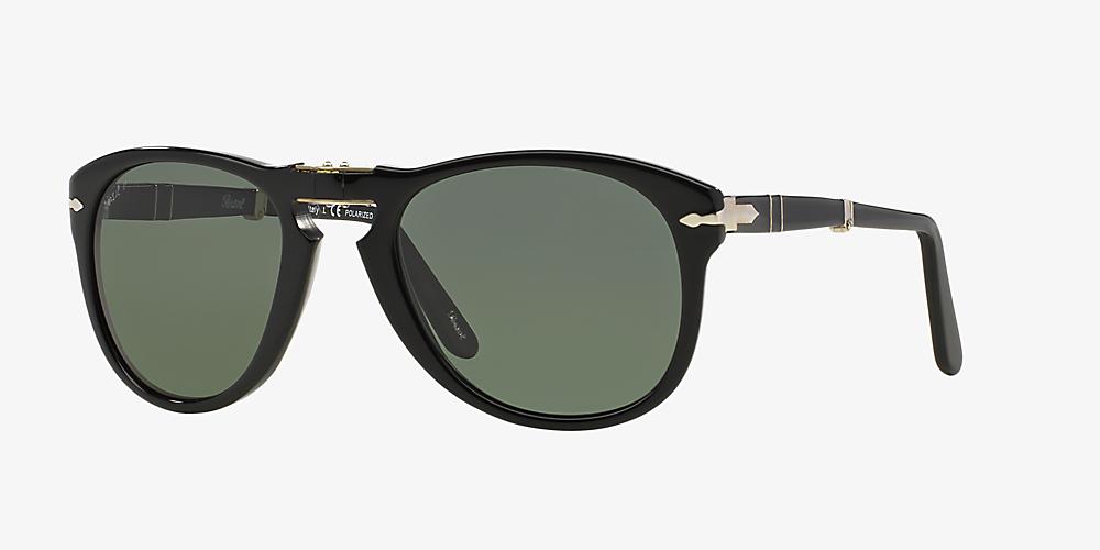 efaf9526631f Persol PO0714 54 Green & Black Polarised Sunglasses   Sunglass Hut ...