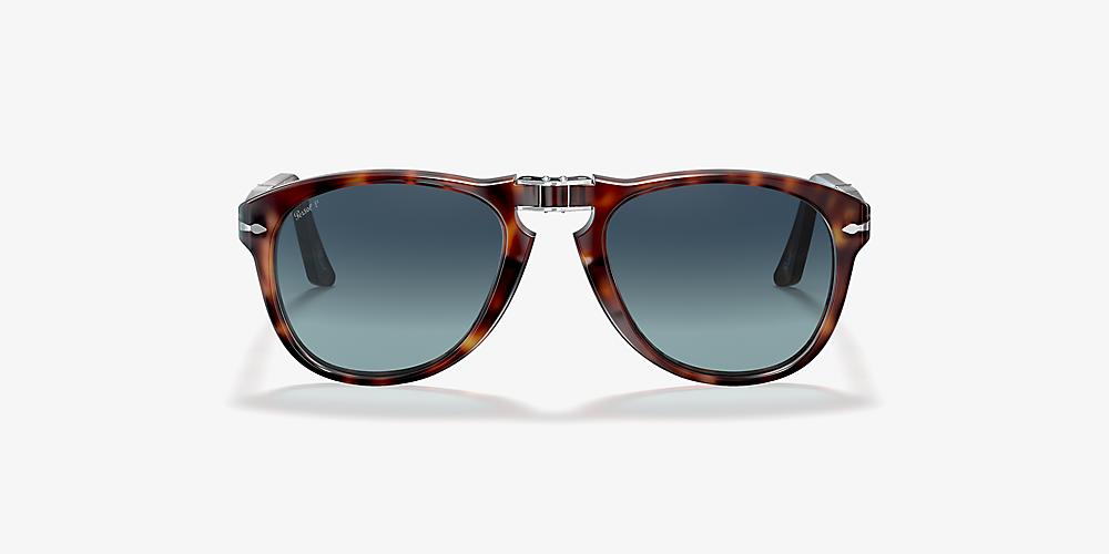 089de75d72e3 Persol PO0714 54 Blue & Tortoise Polarized Sunglasses | Sunglass Hut USA