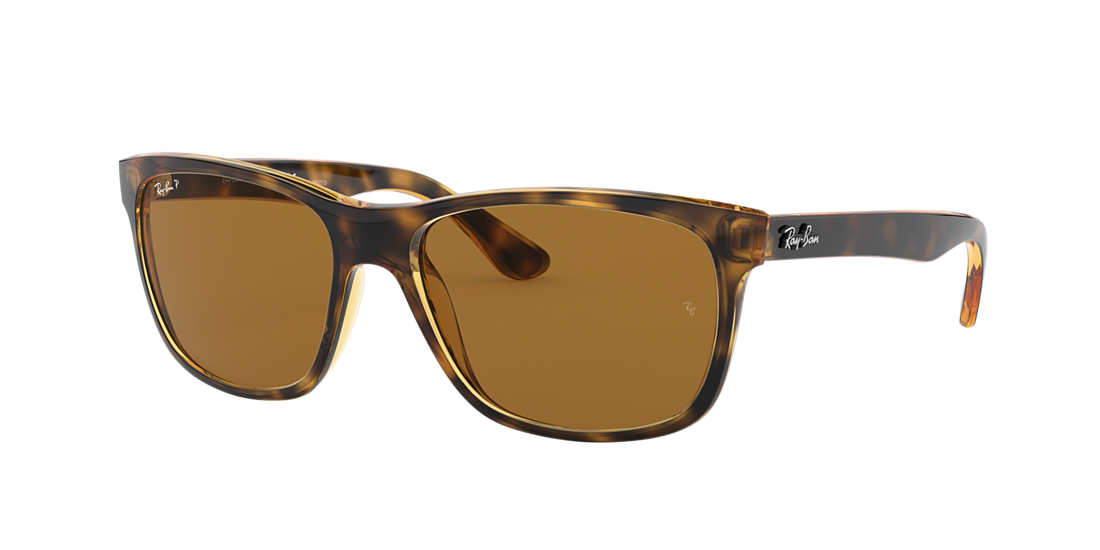 b59d7596b42f Ray-Ban RB4181 57 Polarized Brown Classic B-15   Tortoise Polarised ...