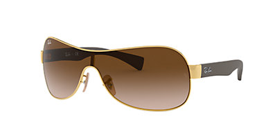 Ray-Ban RB3471 01 Brown Gradient & Gold Sunglasses