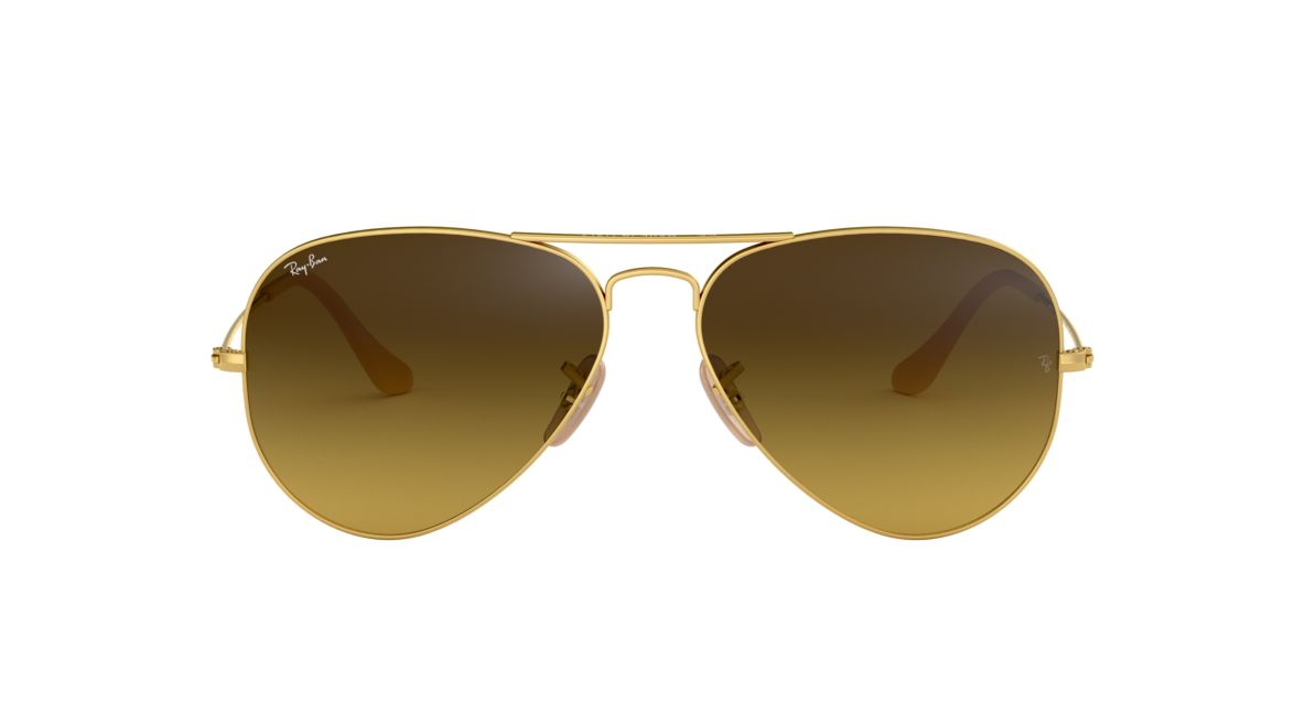 5691cc072a Ray-Ban RB3025 58 Brown Gradient   Gold Sunglasses