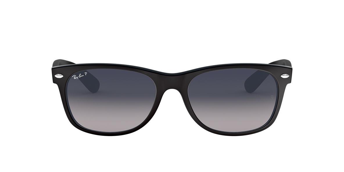 63b2a874954fe RAY-BAN Black RB2132 NEW WAYFARER CLASSIC Polarized Blue Grey Gradient polarised  lenses 52mm