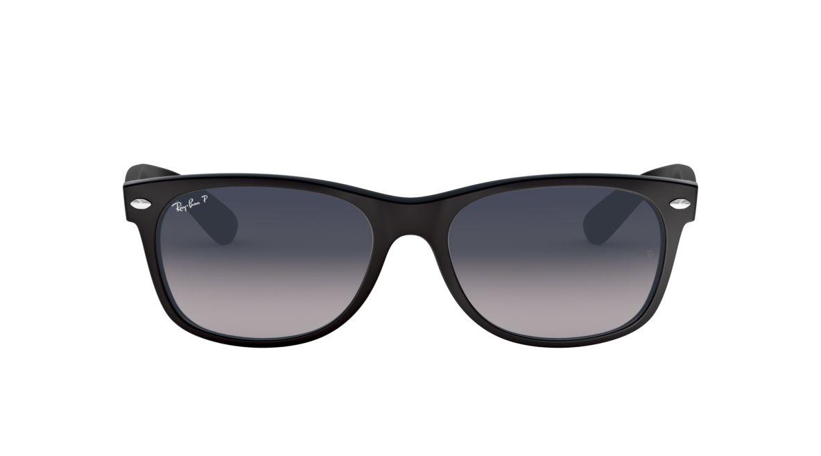 42c5a2402fe Ray-Ban RB2132 55 Polarized Blue Grey Gradient   Black Polarised Sunglasses