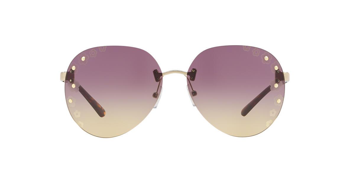 8adaeb3dbf Michael Kors null 60 Purple   Gold Sunglasses