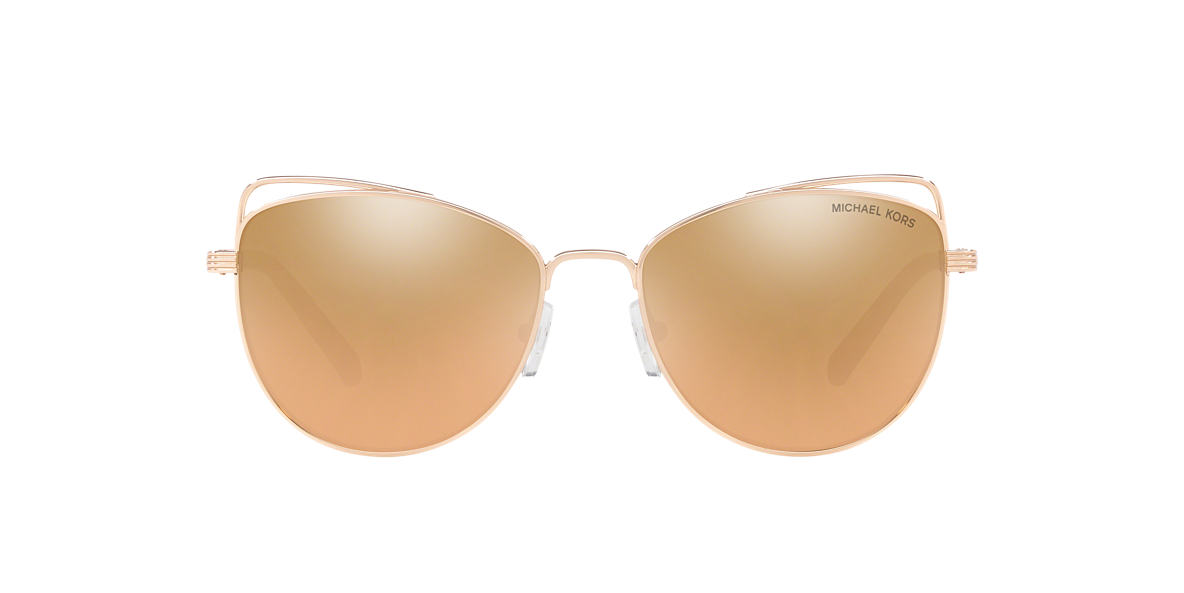 f1648ca7db09 Michael Kors MK1035 ST. LUCIA 55 Gold & Rose Gold Sunglasses ...
