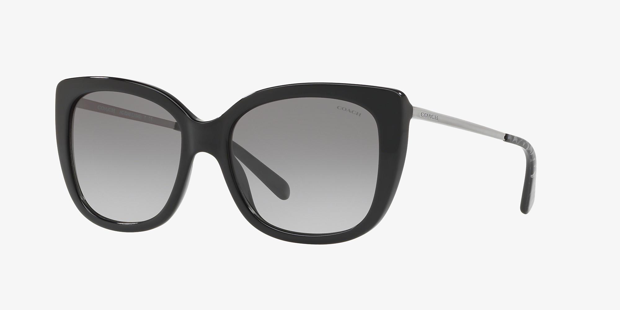 7fd01ba3b19e Coach HC8246 55 Grey-Black & Black Sunglasses | Sunglass Hut USA