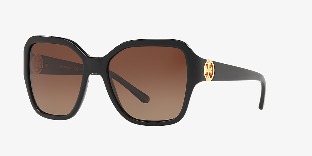 53382a96ee50 Tory Burch TY7125 56 Brown & Black Polarized Sunglasses | Sunglass ...