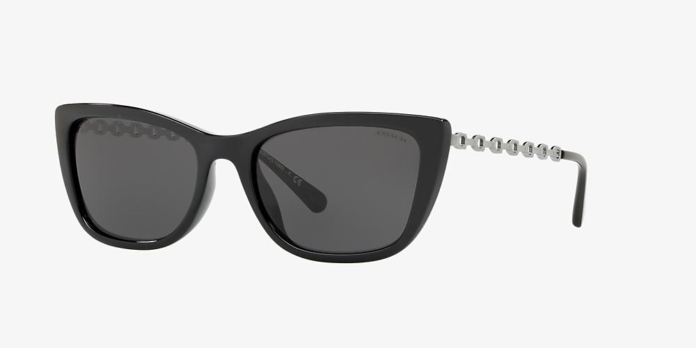 a97c6a2ad7ef Coach HC8257U 55 Grey-Black & Black Sunglasses | Sunglass Hut USA