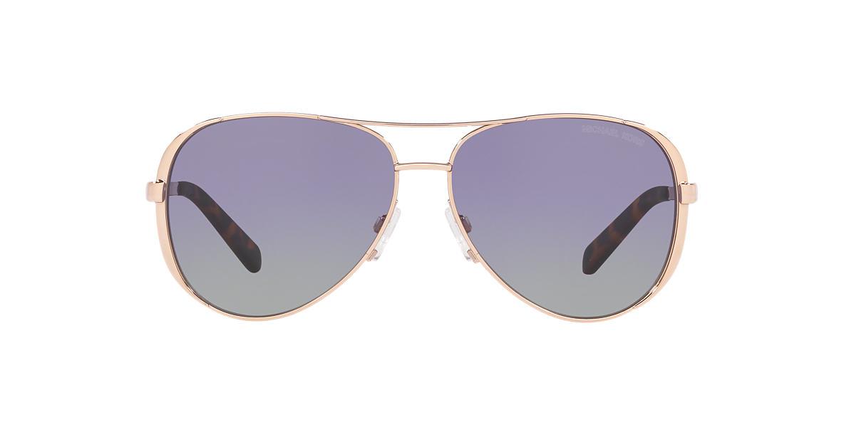 4c89387619ba Michael Kors null 59 Purple   Gold Polarised Sunglasses