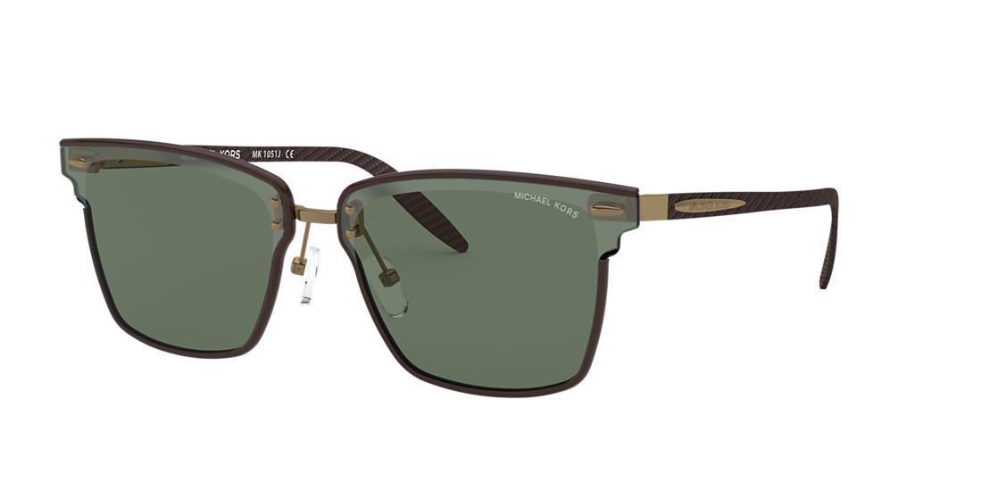 Michael Kors Man  MK1051J Berlin -  Frame color: Dark Brown, Lens color: Green, Size 66-12/145