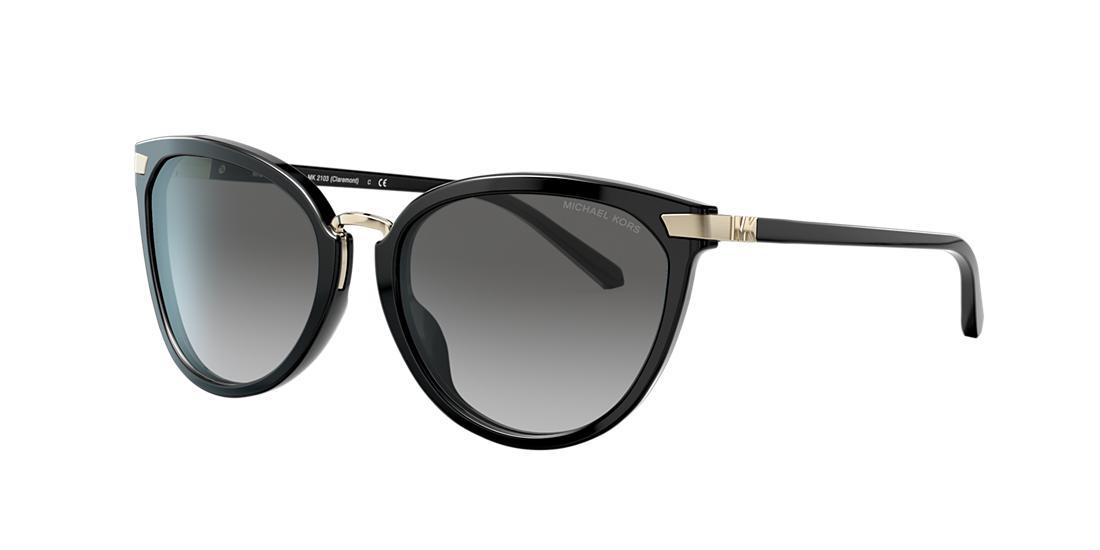 Michael Kors Woman  MK2103 Claremont -  Frame color: Black, Lens color: Grey-Black, Size 56-18/140