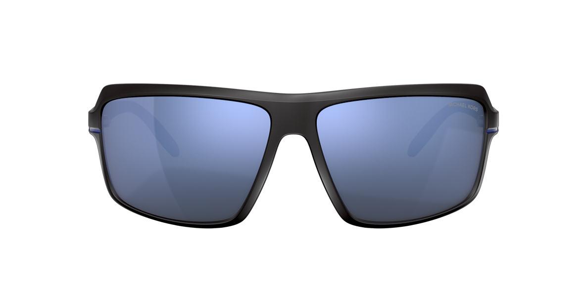 Matte Black MK2114 Carson Blue Mirror