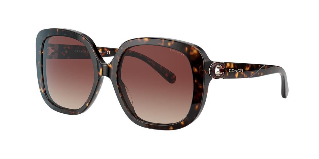 Coach Woman  HC8292 -  Frame color: Tortoise, Lens color: Brown Gradient