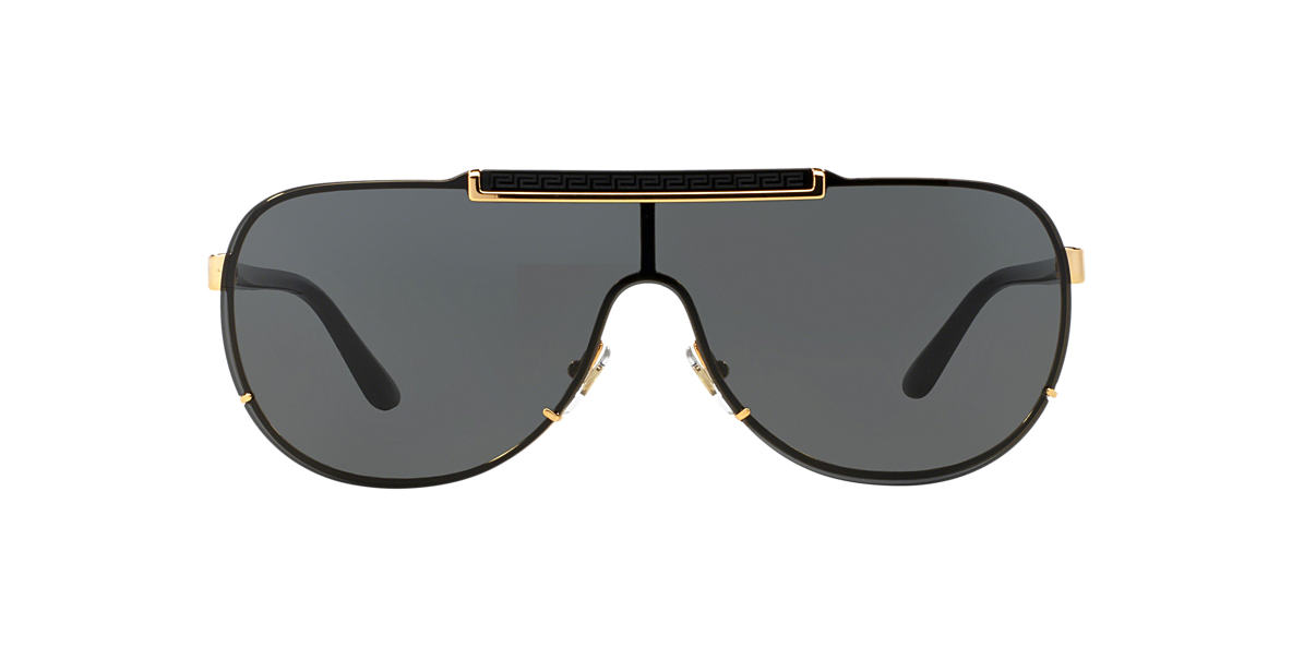 5788873949 Versace VE2140 01 Grey-Black   Gold Sunglasses
