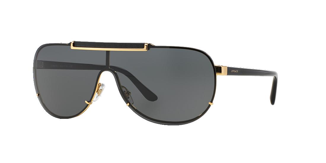 d372808f5f28 Versace VE2140 01 Grey-Black   Gold Sunglasses