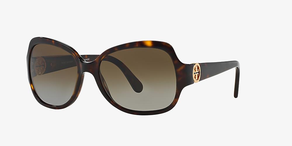 b7df7de8ef25 Tory Burch TY7059 57 Brown & Tortoise Polarized Sunglasses ...
