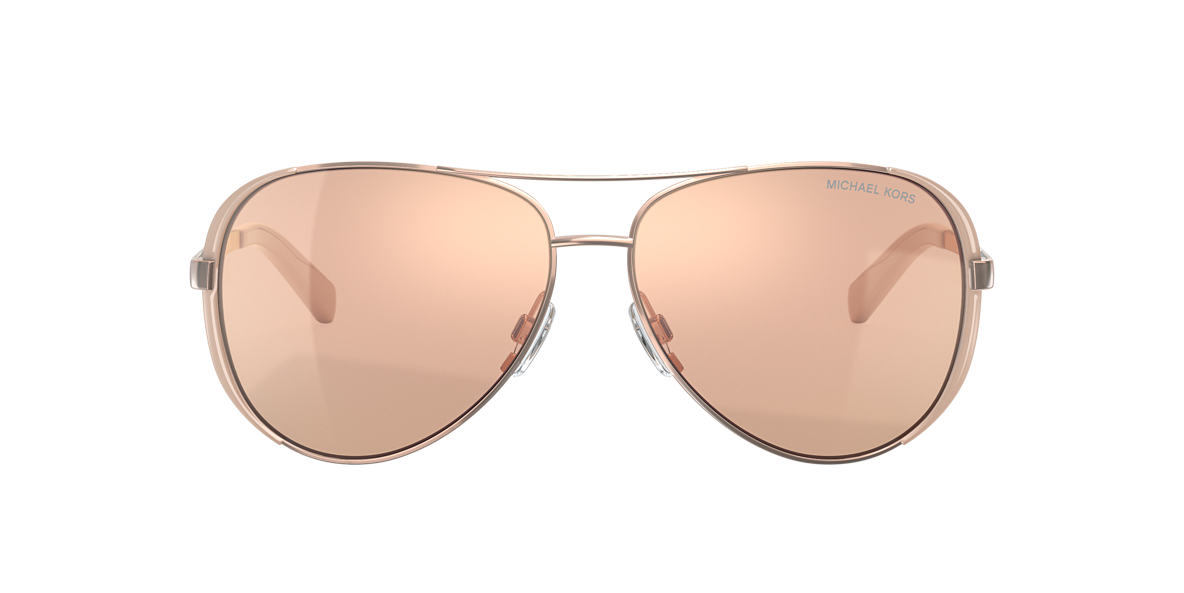 182c599a12ac Michael Kors MK5004 CHELSEA 59 Brown & Pink Sunglasses | Sunglass ...