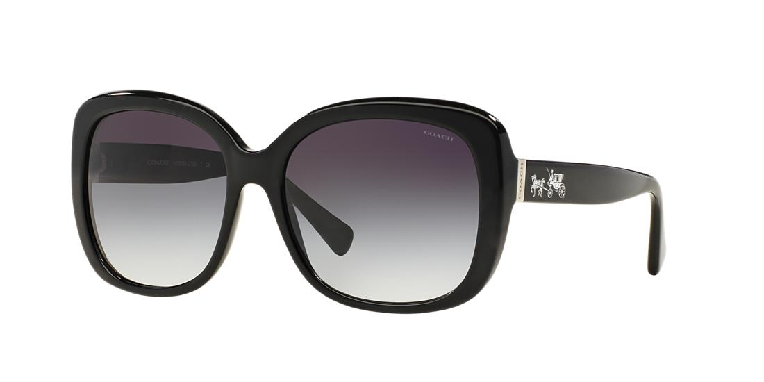 Coach Woman  HC8158 -  Frame color: Black, Lens color: Blue, Size 58-17/135