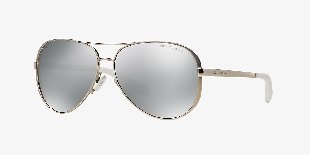 e99f7d766049 Michael Kors MK5004 CHELSEA 59 Silver & Silver Polarised Sunglasses ...
