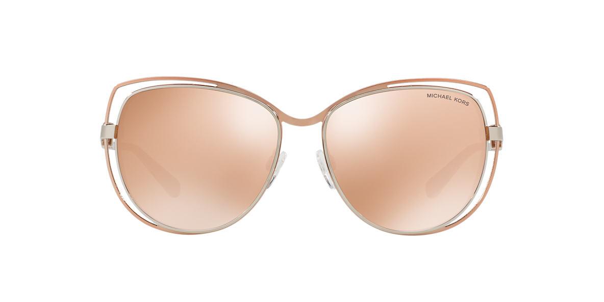 86ad38aa401 Michael Kors MK1013 58 Brown   Pink Sunglasses