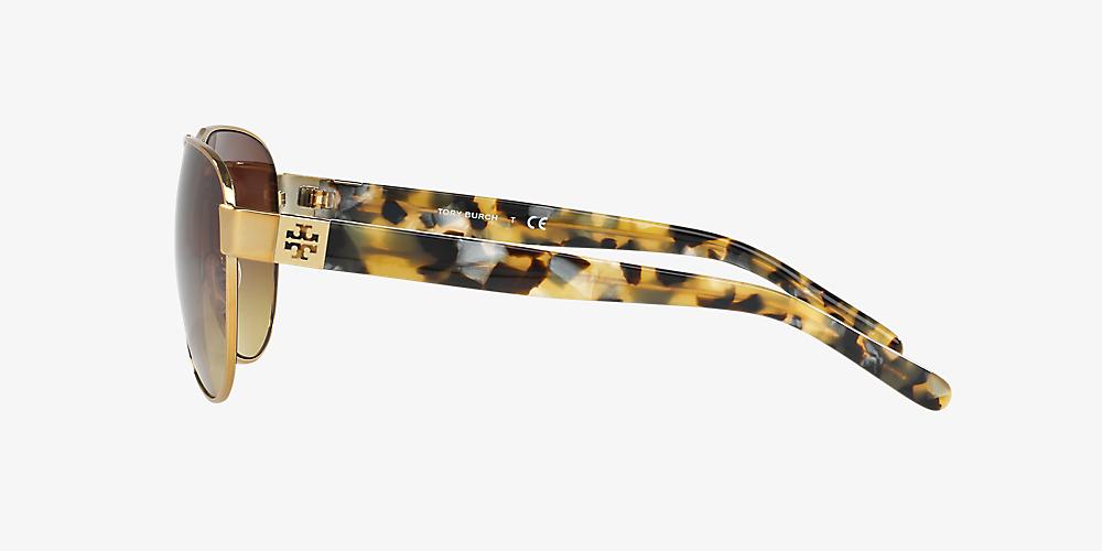 36cc61008f53 Tory Burch TY6051 60 Brown & Gold Sunglasses | Sunglass Hut USA