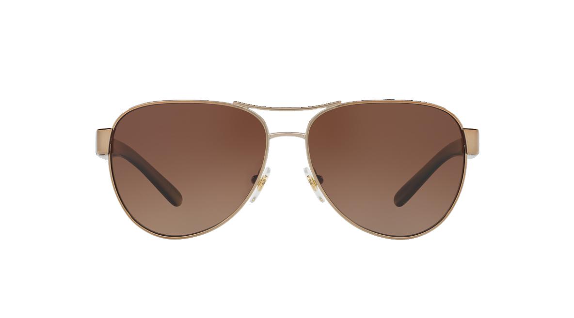 0749dade43db Tory Burch TY6051 60 Brown & Gold Polarized Sunglasses | Sunglass ...